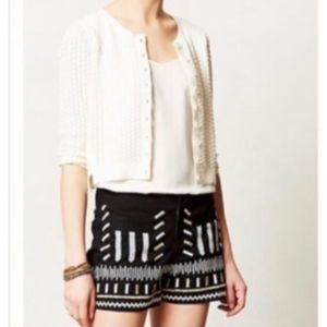 NWT Anthropologie Chloe Oliver Embroidered Shorts